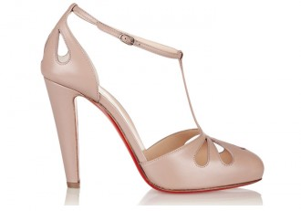 Christian Louboutin 'Amyada' 100 leather T-bar pumps