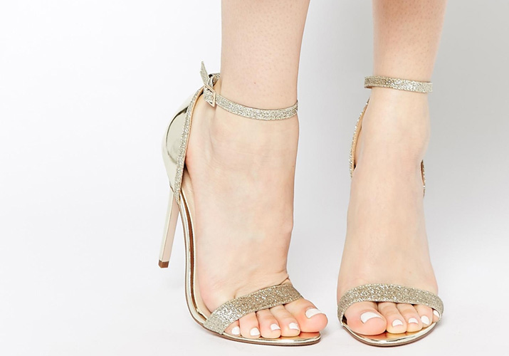 ASOS Host gold barely there sandals