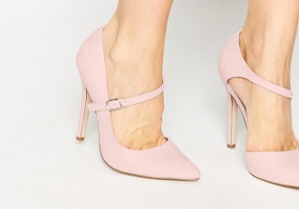 ASOS 'Palm View' pink Mary Jane high heel shoes