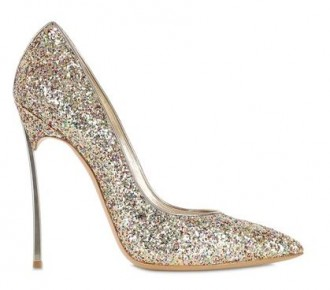 Casadei Blade pumps in gold glitter