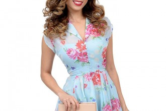 upqPoYf0Bl_1950s_Style_Light_Blue_Floral_Cap_Sleeve_Bloomsbury_Chiffon_Swing_Dress