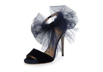 Jimmy Choo Lilyth Tulle Bow Evening Sandal