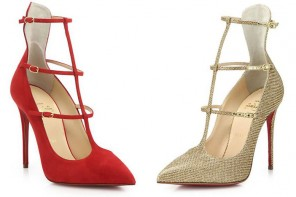 Friday Fix | Christian Louboutin Toerless Muse Suede Triple-Strap Pumps