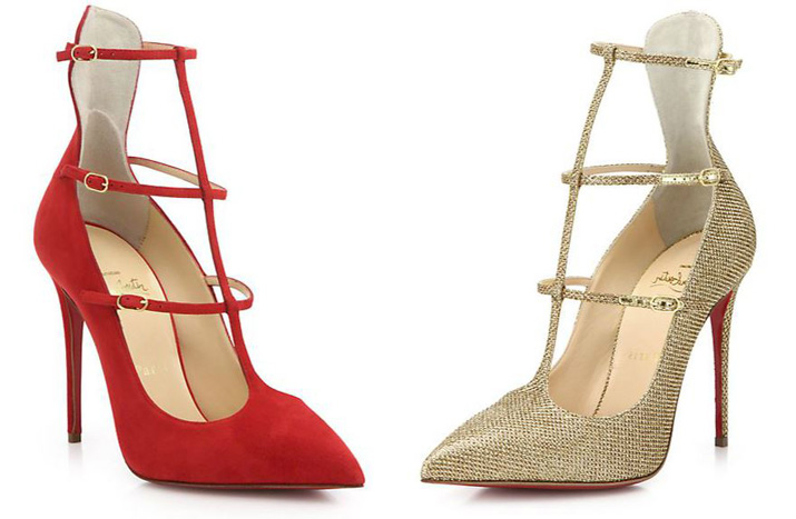 6597594409d Christian Louboutin Toerless Muse Suede Triple-Strap Pumps