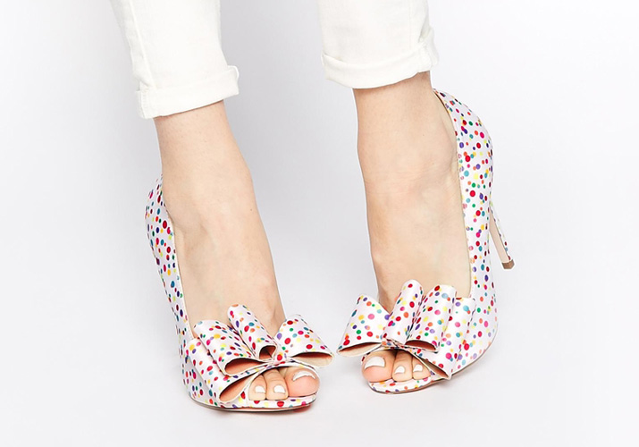 ASOS poppy bow peep toe shoes