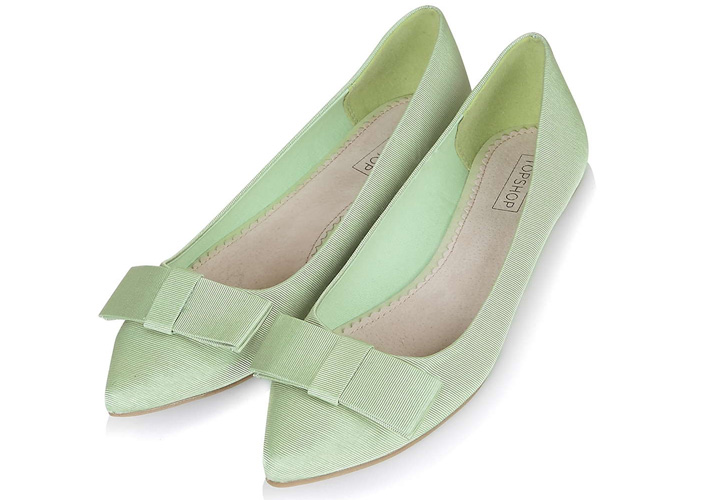 7dd7043a3cdd Topshop  Villa  bow flats now available in mint green