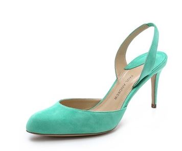 green slingback shoes