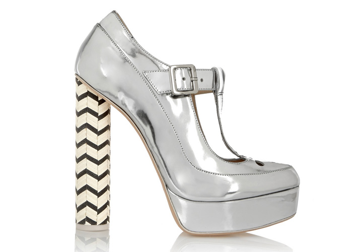 Sophia Webster Dolly metallic leather Mary Jane platform pumps