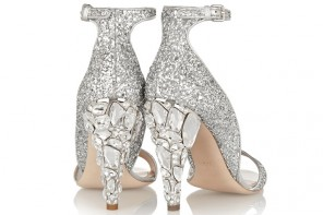 Miu Miu Swarovski crystal-embellished glittered leather sandals