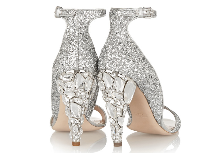 1573a5492ad7 Miu Miu Swarovski crystal-embellished glittered leather sandals ...