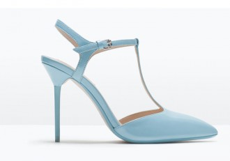 Zara baby blue t-bar heels