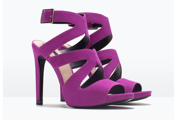 Zara purple high heel sandals > Shoeperwoman