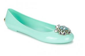 Ted Baker 'Jemmee' mint green jelly flats