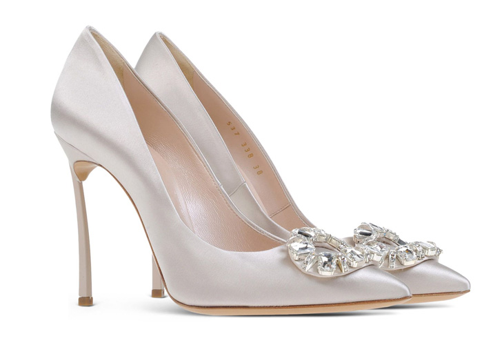 Casadei Blade pumps with brooch embellishment