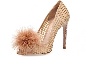 Feather Jeweled-Heel Pump