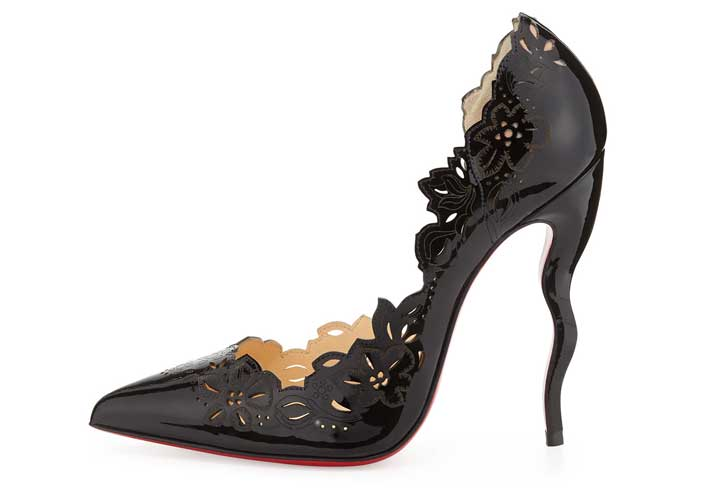 Christian Louboutin 'Beloved' Laser-Cut Wiggle Heel Pumps