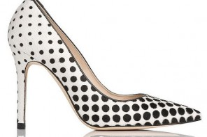 LK Bennett 'Fern' Haircalf Point Toe Polka Dot Court Shoes