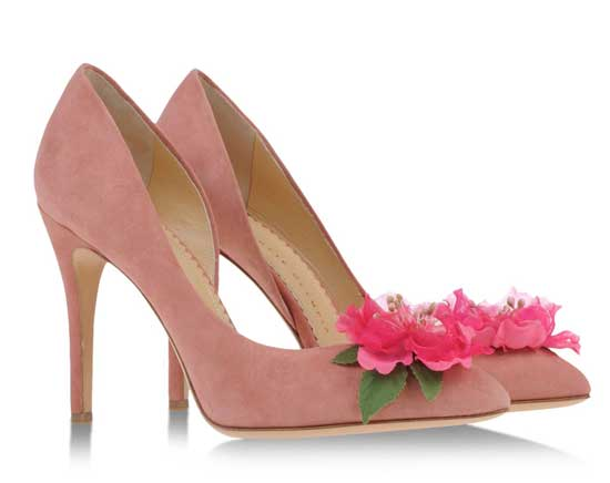 pink Charlotte Olympia shoes