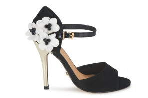Ravel 'Daisy' black high heeled sandals