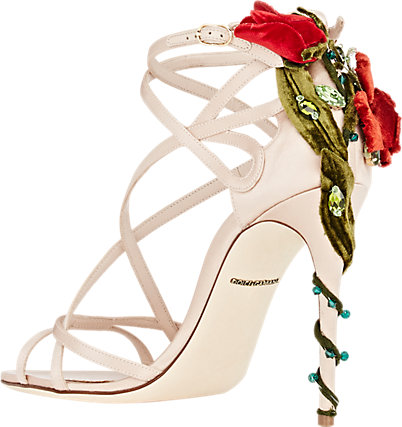 White strappy sandals by Dolce & Gabbana