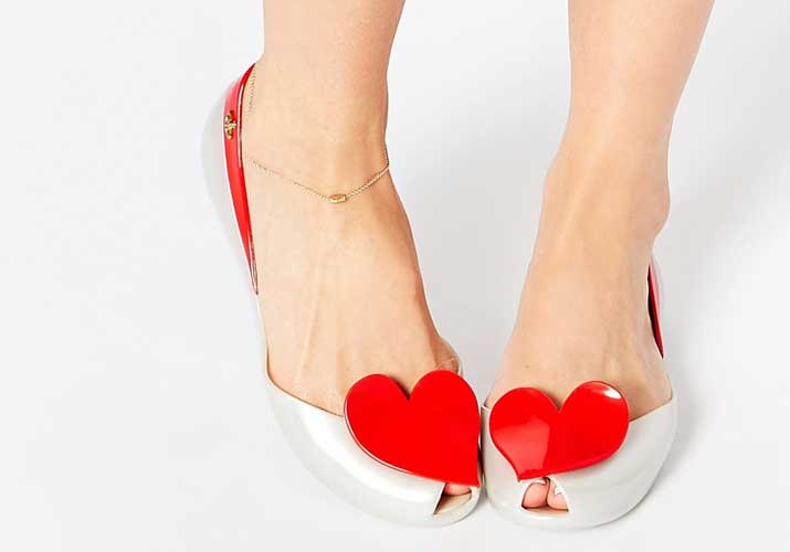 Vivienne Westwood Melissa heart shoes