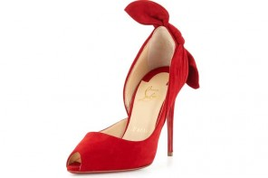 Christian Louboutin 'Barbara' red knot heel pumps