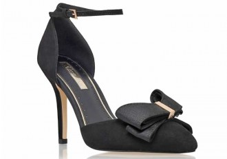 Kurt Geiger 'Gala' black high heel d'orsay pumps