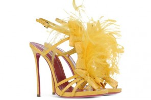 bright yellow shoes by Dsquared2