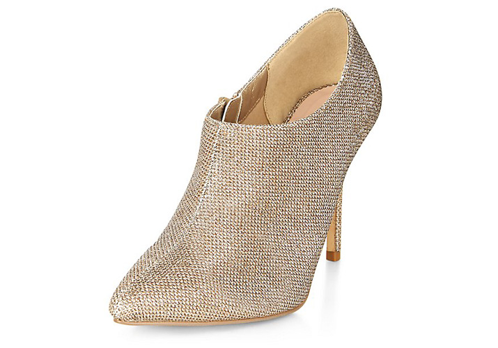 2552fa9205b Gold glitter shoe boots from New Look   Shoeperwoman