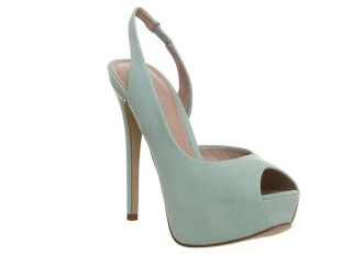Office 'Pinup' mint platform slingbacks