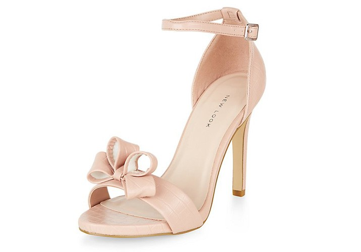 New Look stone bow front sandals
