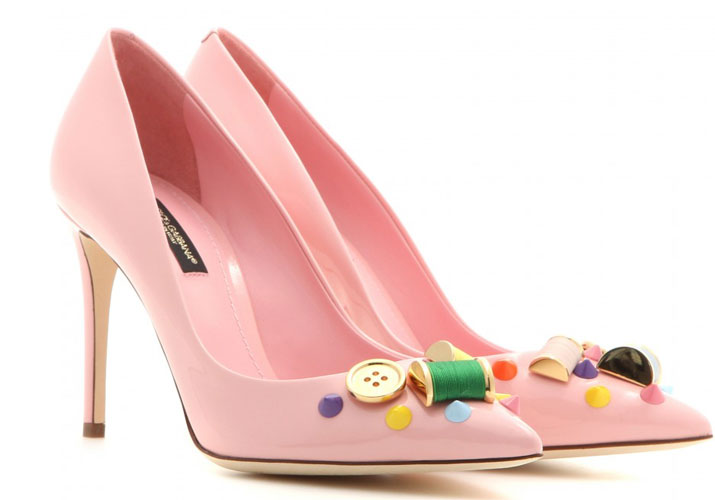 pale pink pumps by Dolce & Gabbana