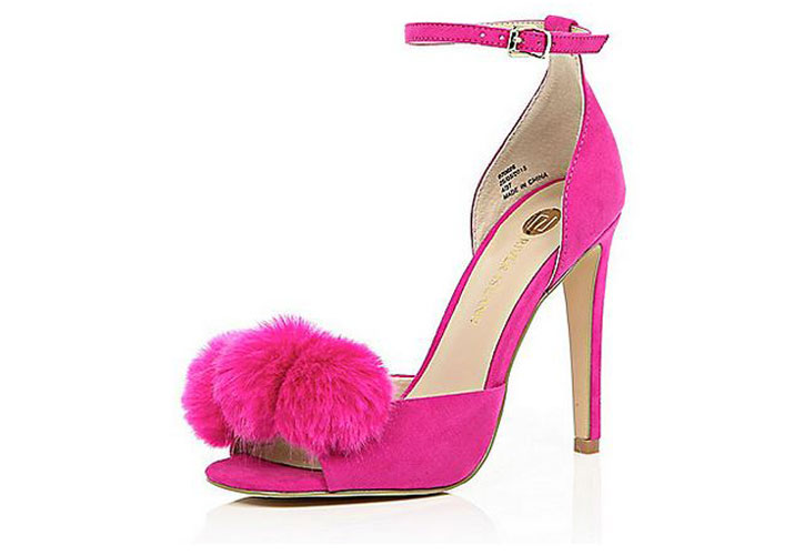 Pink Pom Pom Shoes from River Island