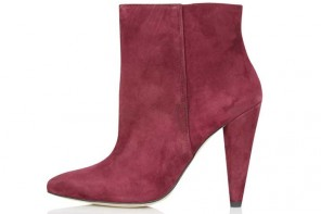 Topshop 'Hatter' Cone Heel Ankle Boots