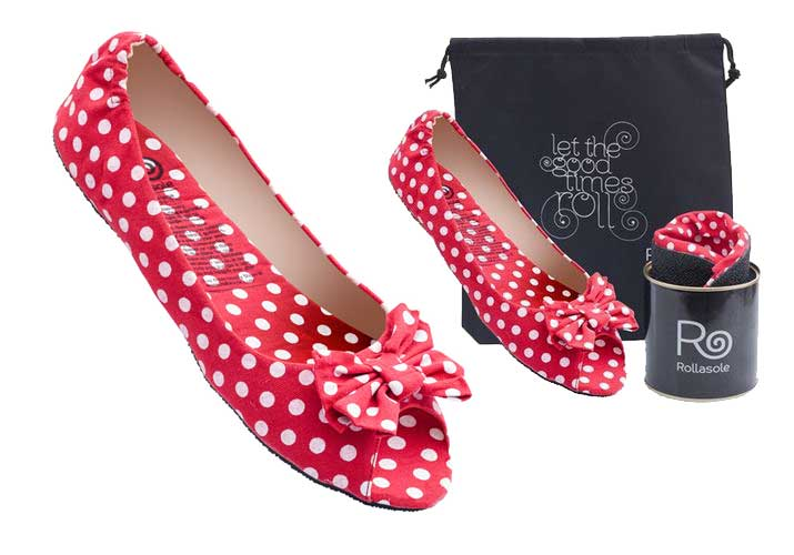 Rollasole 'Dotty for You' emergency flats