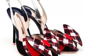 tartan shoes by Sophia Webster