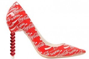 Unusual Shoes: Sophia Webster Coca Cola shoes