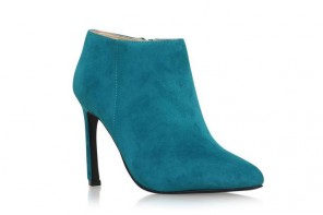 Nine West 'Sheelagh' teal ankle boots
