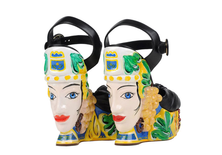 Unusual Shoes: Dolce & Gabbana face wedges