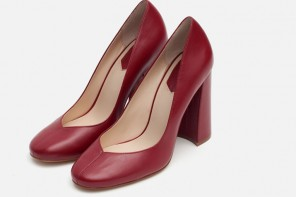 block heeled court shoes from Zara