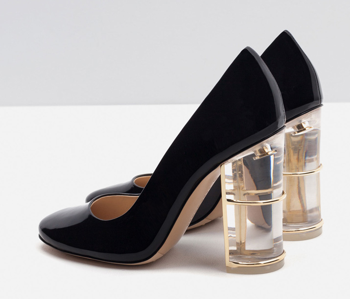 lucite heel shoes from Zara