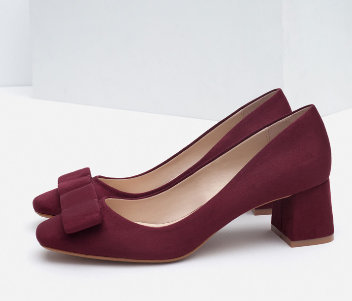 low heeled pumps from Zara