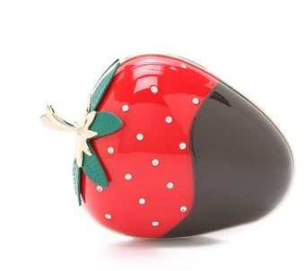 strawberry clutch bag