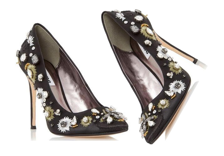 Dune 'Brionie' embellished court shoes