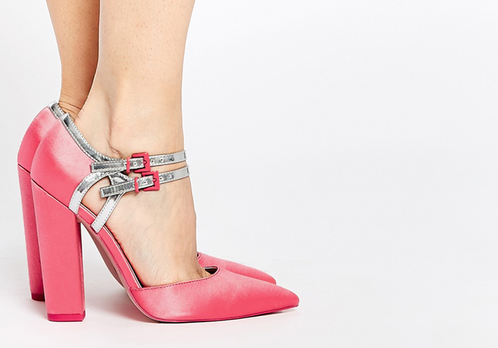 ASOS 'Pinpoint' pink pointed heels