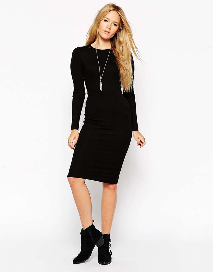 Images of black dress with boots