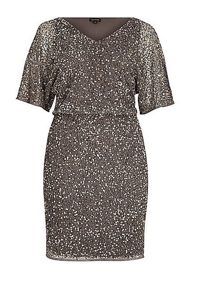 River Island grey sequinned mini dress