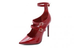 Tamara Mellon red patent shoes