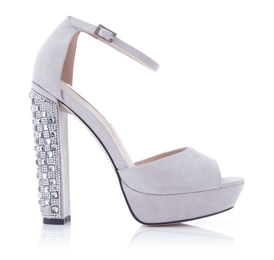 Miss Selfridge crystal embellished platform sandals