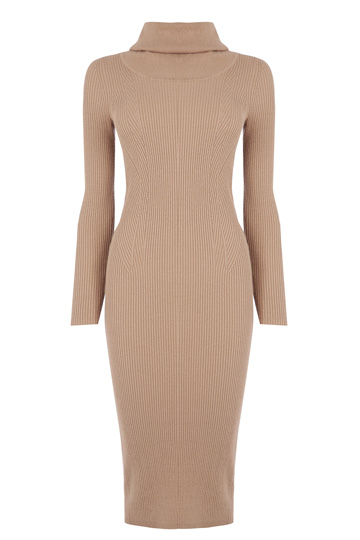 camel bodycon dress